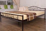 Кровать металлическая Релакс (черный)0,9м
