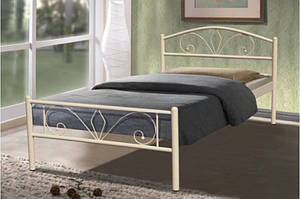 Ліжко металеві -Релакс (бежевий)