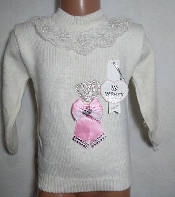 """Детский свитер на девочку """" Бантик """" 1-3"""