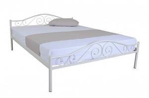 Кровать односпальная металлическая в стиле прванс - Респект(бежевая)0,9м