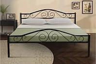 Кровать из металла -Респект(черная)0,9м