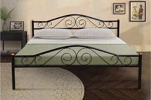 Ліжко з металу -Респект(чорна)0,9 м, 1,6 м