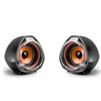 Колонки 2.0 JEDEL JD-А7 USB+3.5mm, 2x3W, 90Hz- 20KHz, с регулятором громкости, Black/Orange, BOX, Q40