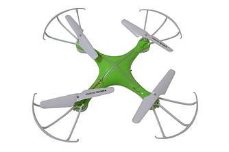 Квадрокоптер дрон радиоуправляемый с камерой и WIFI Спартак CF-888-3 Green