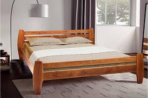 Кровать из массива ольхи, двухспальная - GALAXY (1,6 м) (венге, темный орех)