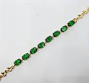 Браслет с камнями XP зеленый длина 18-20 см ширина 0.4 см регулируемый