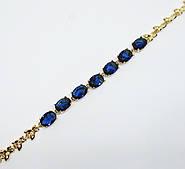 Браслет с камнями XP синий длина 18-20 см ширина 0.4 см регулируемый