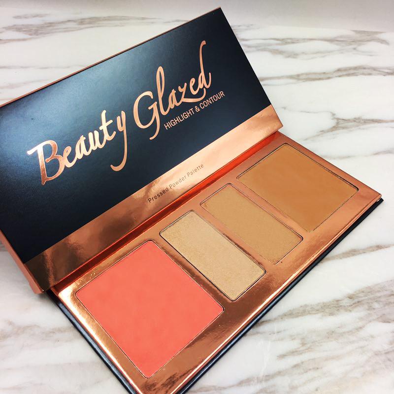 Набор для макияжа Beauty Glazed highlight @ contour pressed powder palette