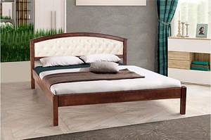 Дерев'яне двоспальне ліжко з м'яким узголів'ям - Джульєтта (1,6 м)