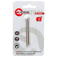 Коронка трубчатая по стеклу и керамике 4 мм 2 шт Intertool  SD-0342