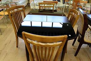 Стол обеденный стеклянный WT35 , Exm цвет шоколад, фото 2