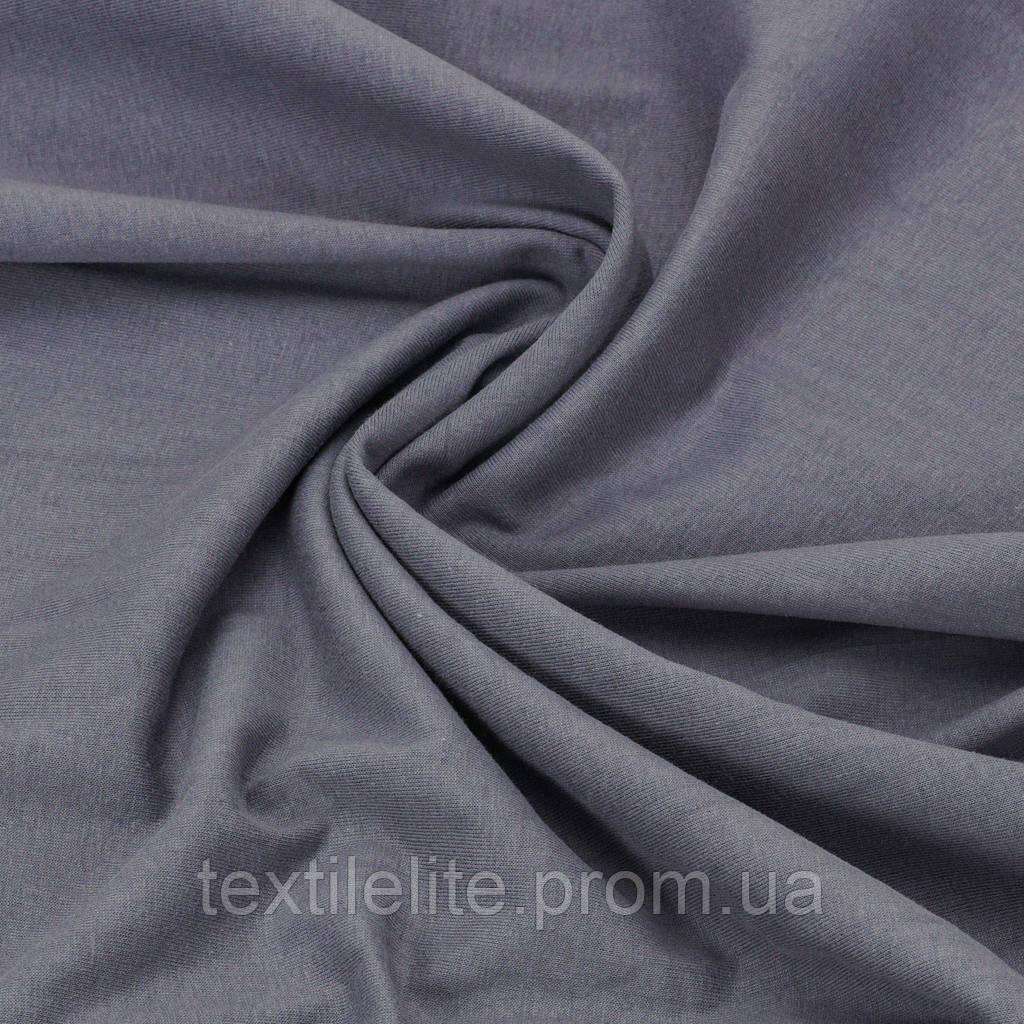 Кулирная гладь. Цвет Серый. Трикотажная ткань в рулонах
