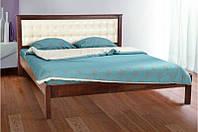 Деревянная двухспальная кровать с мягким изголовьем -Карина  (1,6м)