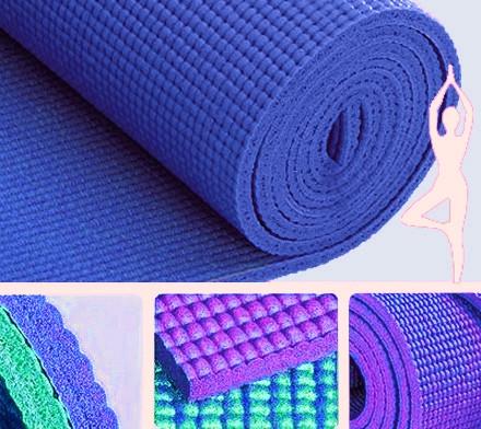 9290142 Коврик для Йоги 4мм. Синий