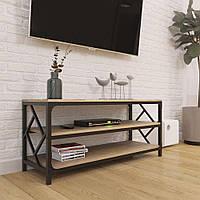 Тумба под TV на три полки металл в loft стиле серии Ромбо Металл-Дизайн