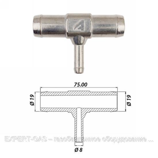 Тройник Т-образный тосольный Atiker 19х8х19