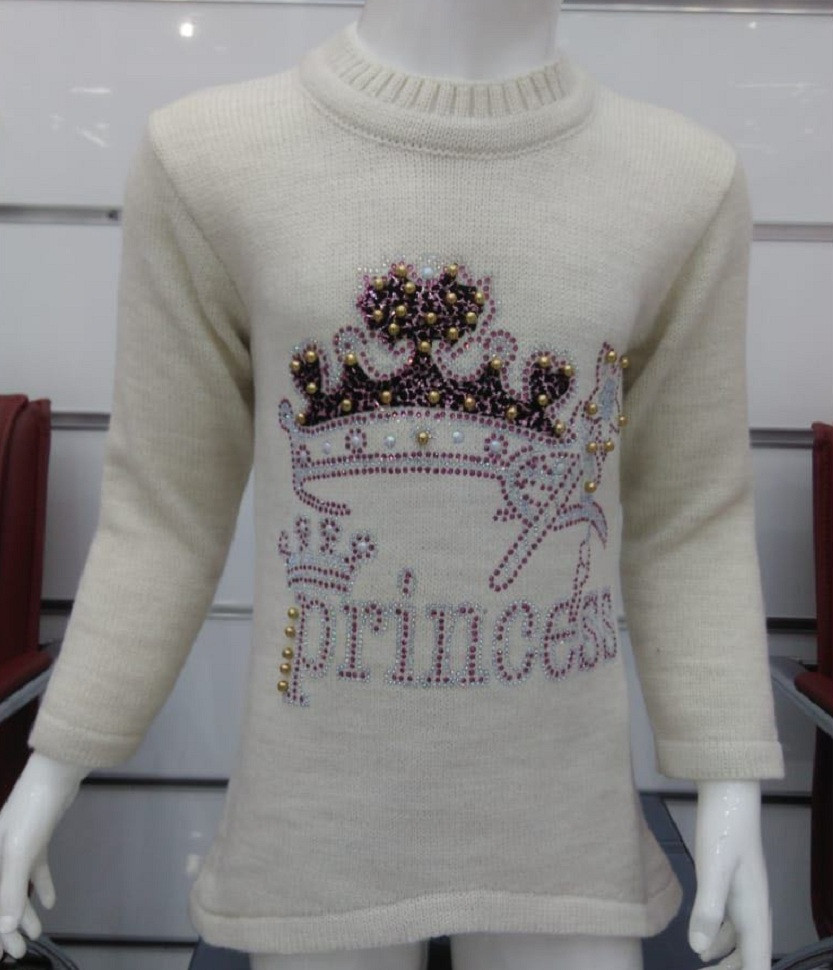 "Детский свитер на девочку "" Принцесса""  PAPILON  3-9"