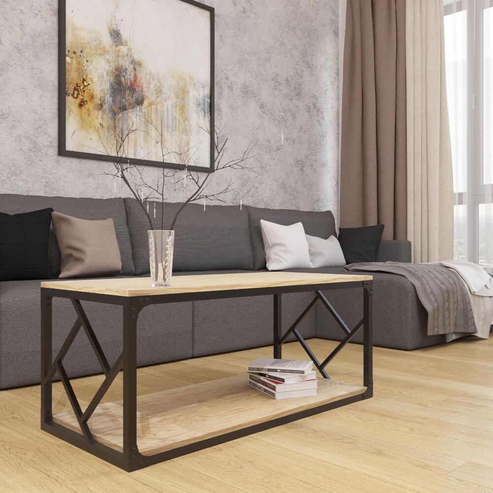 Стол журнальный в современном дизайне и стиле loft серии Ромбо Металл-Дизайн