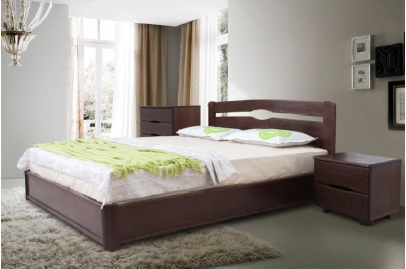 Ліжко дерев'яне, на подьемной рамі -Кароліна