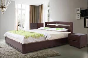Кровать деревянная, на подьемной раме -Каролина