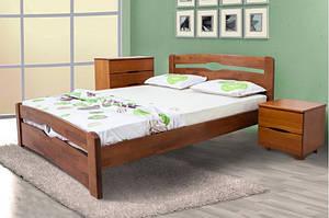Кровать из массива дерева с изножьем -Каролина