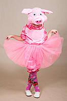 Карнавальный костюм ПОРОСЕНОК, СВИНКА для девочки 5,6,7 лет, детский новогодний костюм ХРЮШКА, ХРЮША