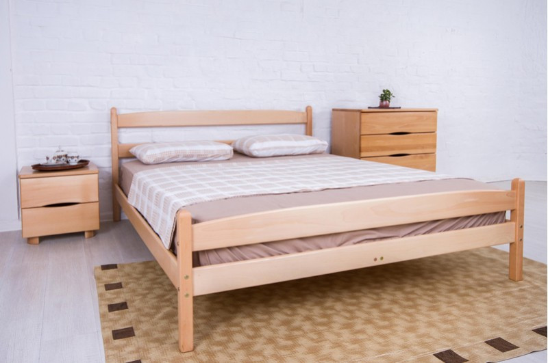Деревянная кровать с изножьем -Ликерия.