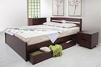 Кровать деревянная с выдвижными ящиками Ликерия -люкс