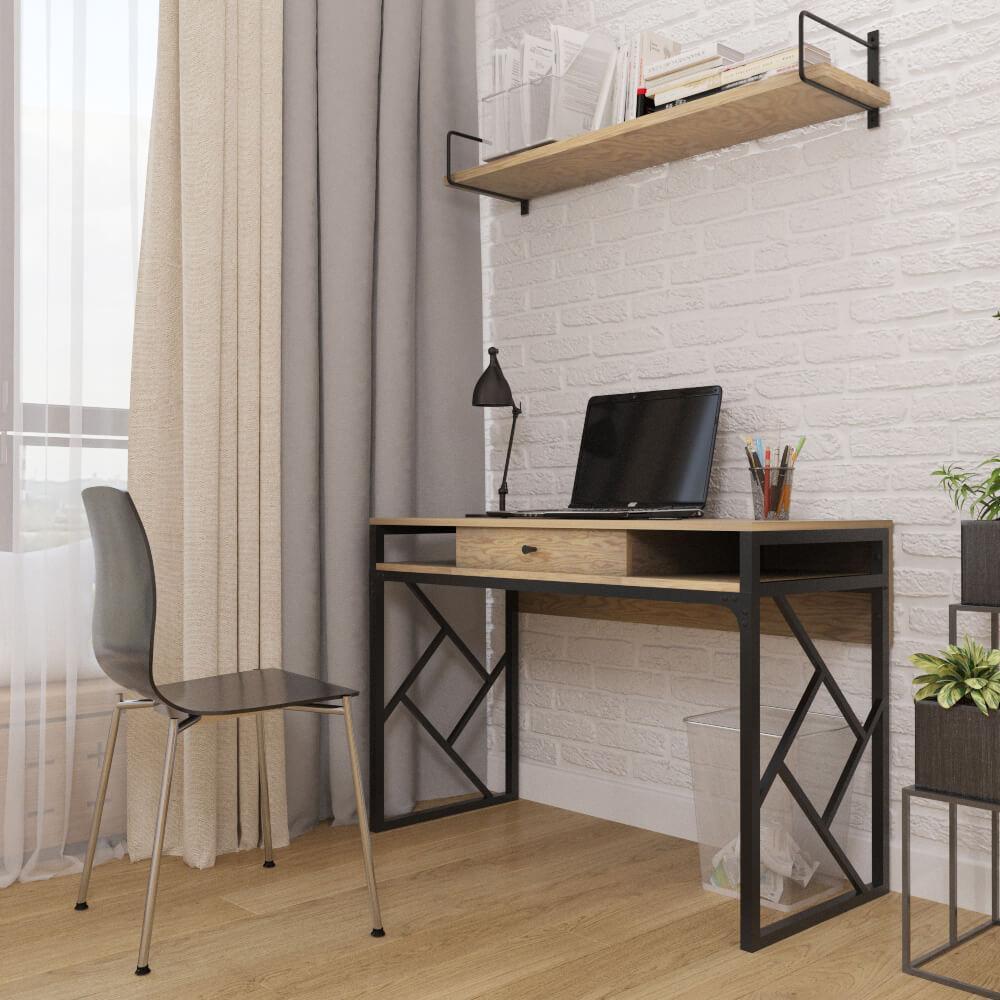 Туалетный столик, рабочий столик, консоль в современном дизайне и стиле loft серии Ромбо Металл-Дизайн