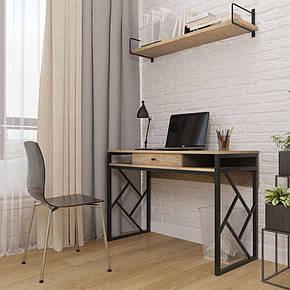 Туалетный столик, рабочий столик, консоль в современном дизайне и стиле loft серии Ромбо Металл-Дизайн, фото 2