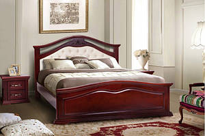 Кровать из массива дерева - Маргаритта  (цвет каштан)