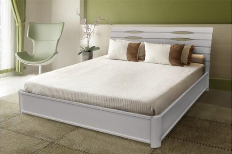 Кровать Мария из массива дерева 1,2 м.с подъемным механизмом (белая)