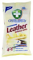 Влажные салфетки Green Shieeld Leather 50 шт. для  очистки поверхности из кожи, фото 1