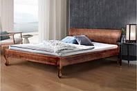 Кровать двухспальная из массива дерева -Николь (цвет темный орех)