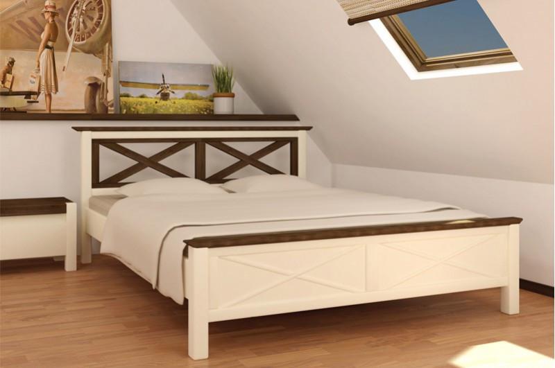 Кровать двухспальная из массива дерева -Нормандия