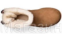 Женские угги UGG Australia Mini Bailey Bow Chestnut оригинал Угги Австралия рыжие с бантиком, фото 3