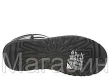 Женские угги UGG Australia Classic Mini Leather Black оригинал Угги Австралия черные, фото 3