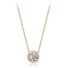 """Кольє маленьке жіноче покрите золотом з прозорими кристалами Сваровські """"Carlota Butte"""""""