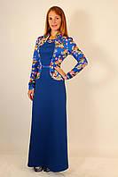 Теплое нарядное платье с длинным рукавом 44-46 р