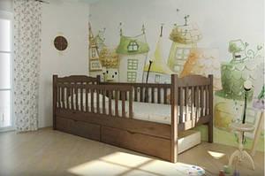 Детская кроватка с 1 или 2 заборами- ЮНИОР