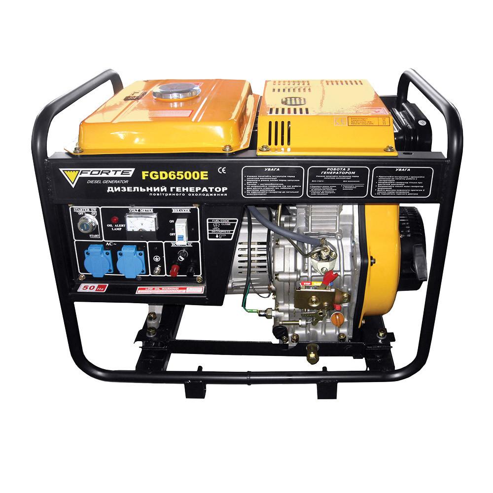 Дизельный генератор Forte FGD 6500E/4.4-4.8 кВт (ручной и электростартер, одноцилинд.)