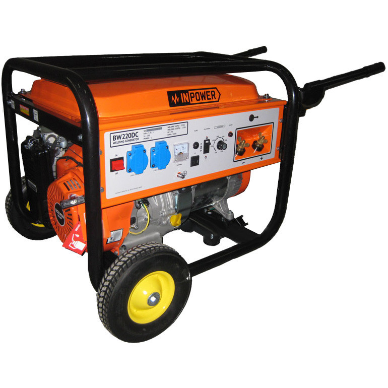 Бензиновый сварочный генератор IN POWER BW 220DC/5.0-5.5 кВт (реверсивный стартер, двиг. Honda SGX 390)