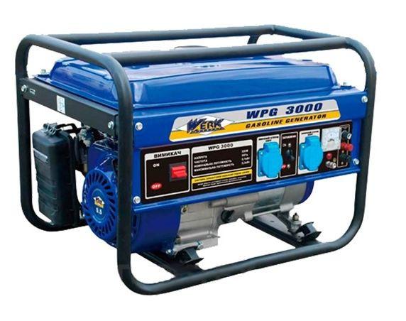 Бензогенератор Werk WPG 3000/2.2-2.5 кВт (ручной пуск, усилен. рама)