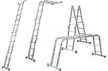 Forte 3х4 шарнирная лестница до 3.55 метров