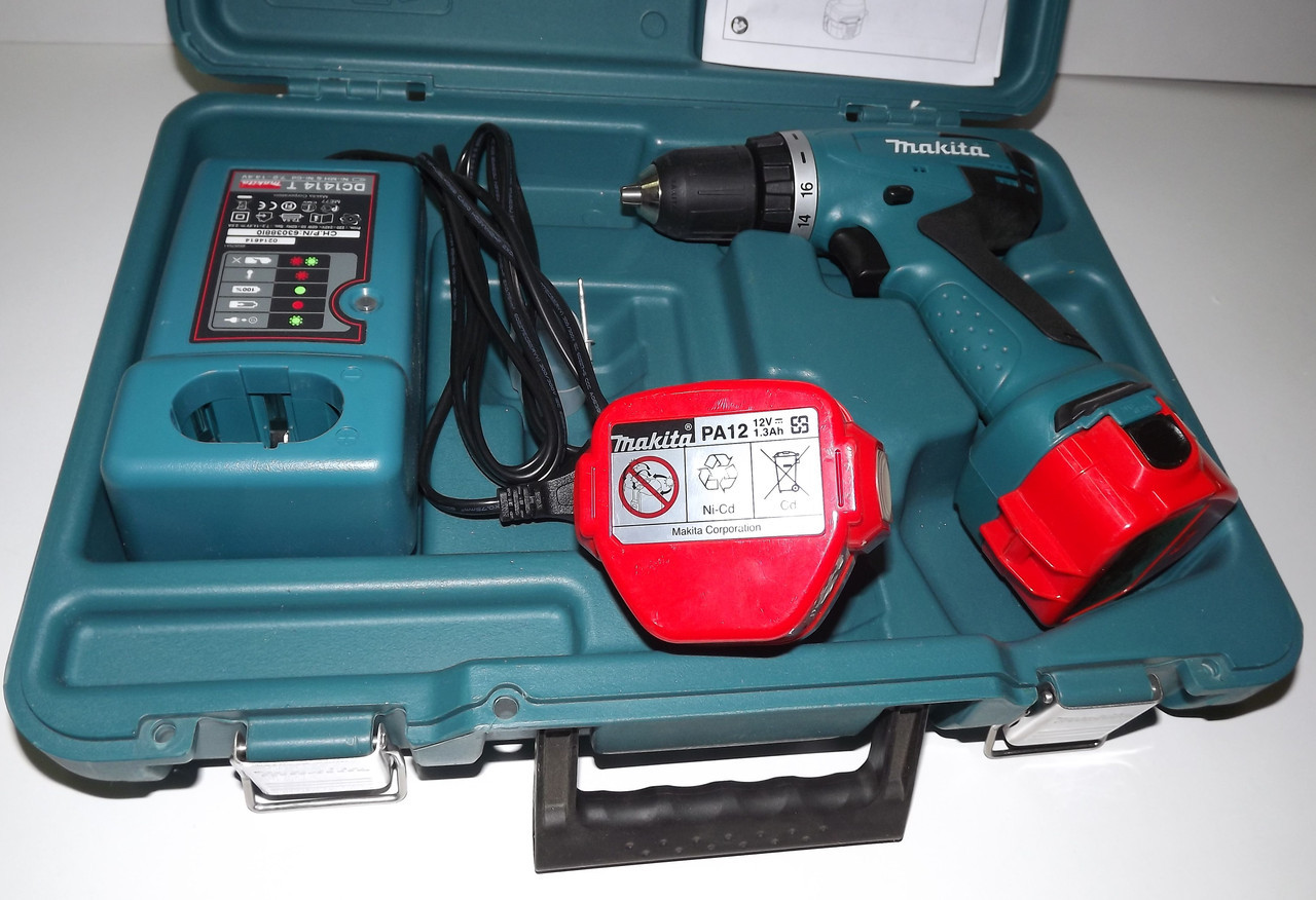 Шуруповерт Makita DWPE 6271 1.3 Ah (2 скорости, 2 аккумул.,12В)