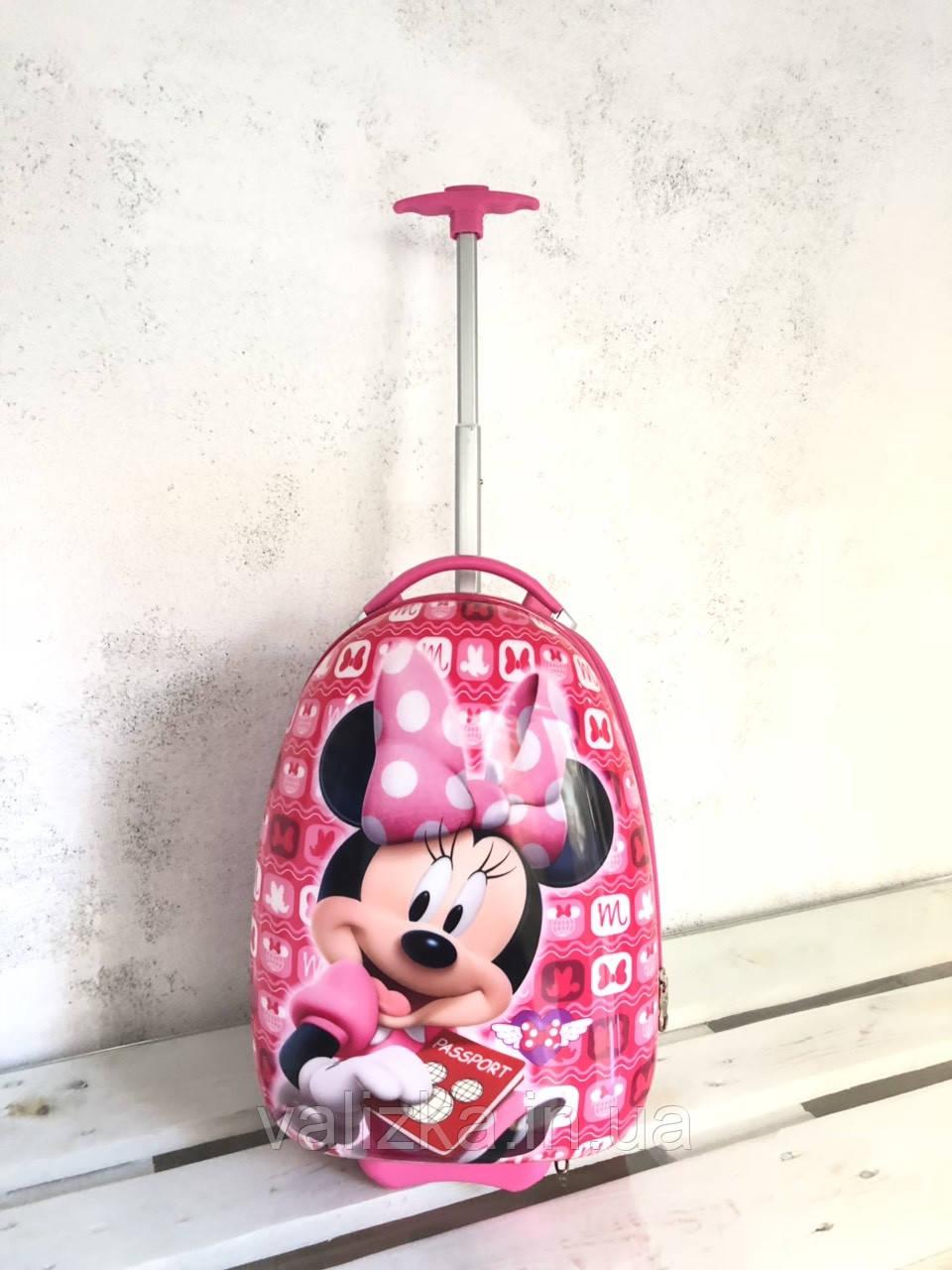 Детский чемодан для девочки на 2-х колеса ручная кладь Мини маус Микки маус 44 см Дитяча валіза
