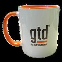 """Чашка (кружка) """"оранжевая"""" с нанесением логотипа, фотографии, надписи, фото 1"""