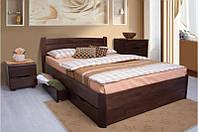 Деревянная кровать из массива дерева- София, с 2-мя выдвижными ящиками