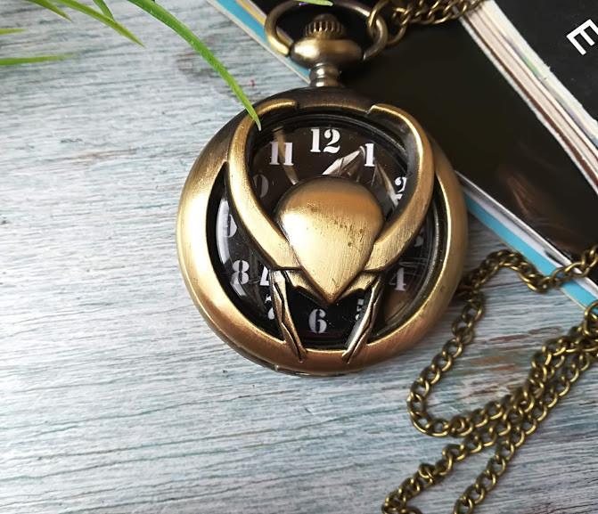 Часы Кулон шлем Локи Тор GeekLand