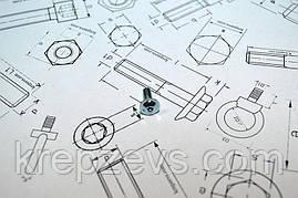 Винт М4 DIN 7380 оцинкованный